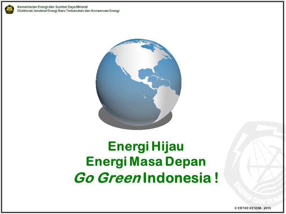 Energi Hijau Energi Masa Depan Go Green Indonesia !