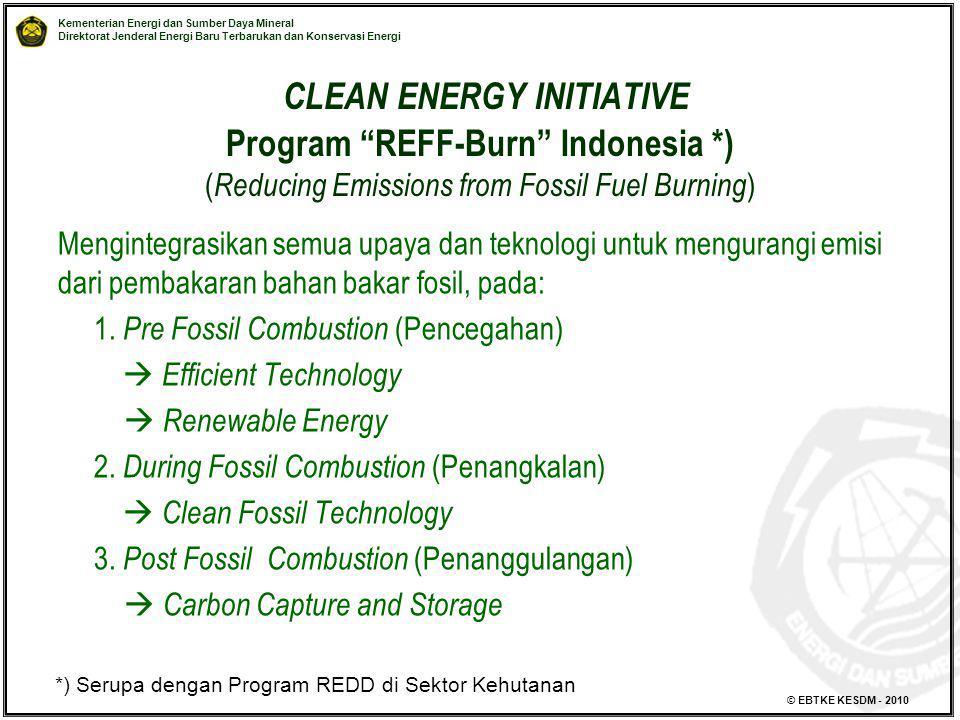 CLEAN ENERGY INITIATIVE Program REFF-Burn Indonesia
