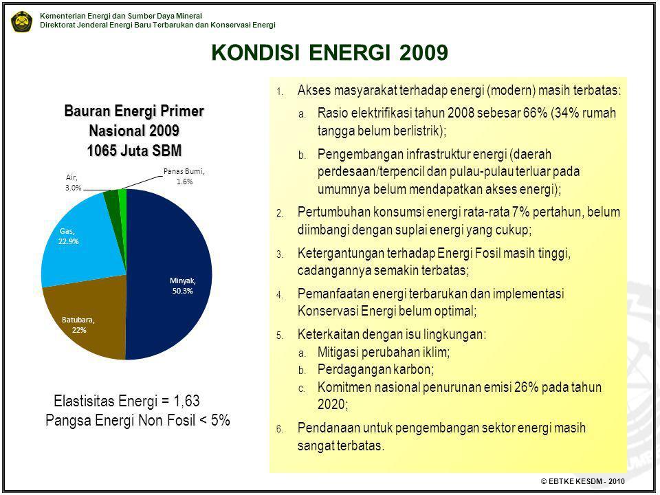 Bauran Energi Primer Nasional 2009