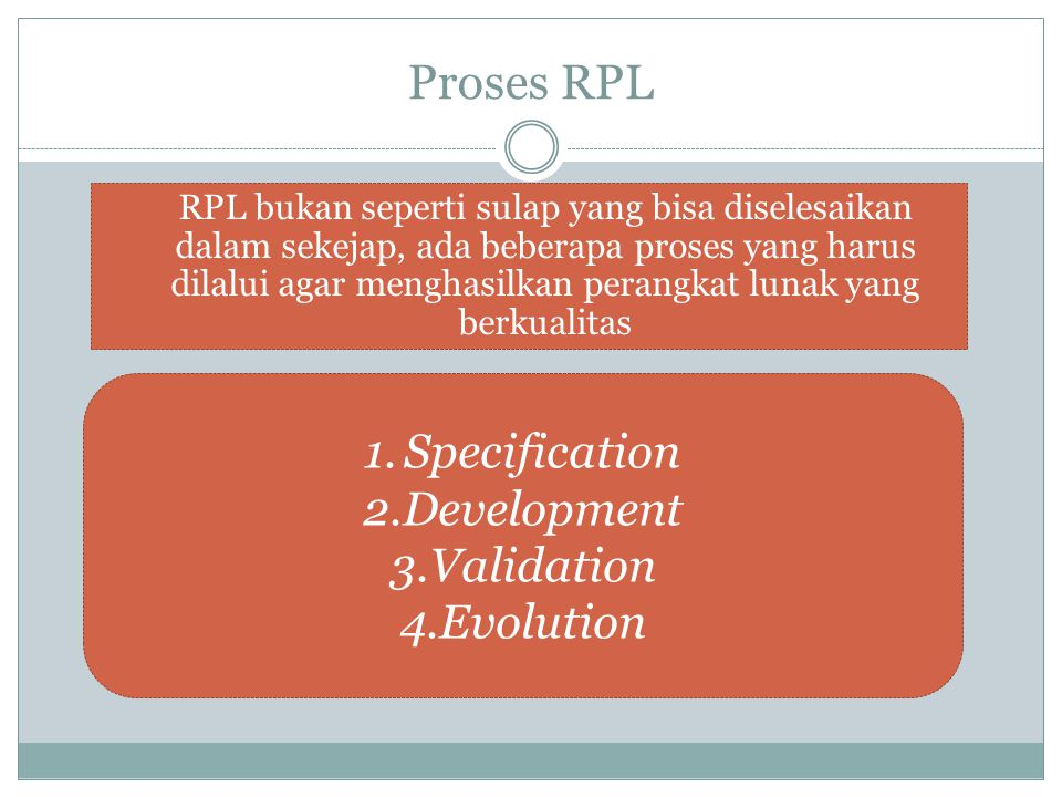 Proses RPL Specification Development Validation Evolution