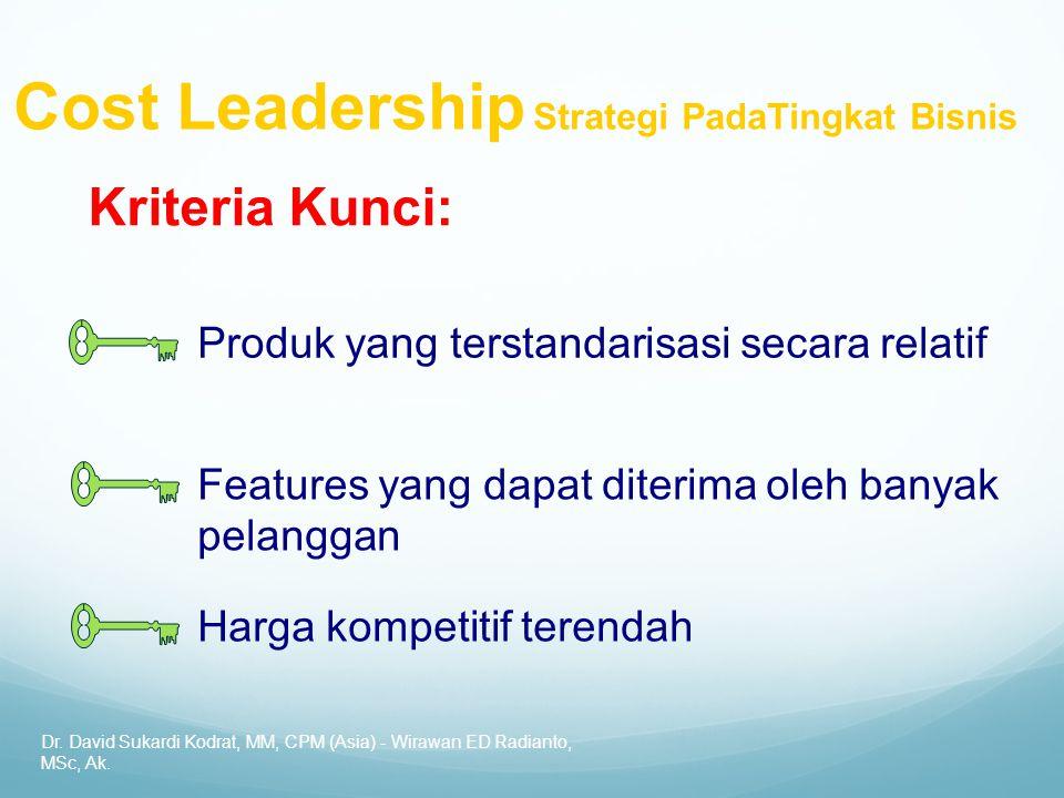 Cost Leadership Strategi PadaTingkat Bisnis