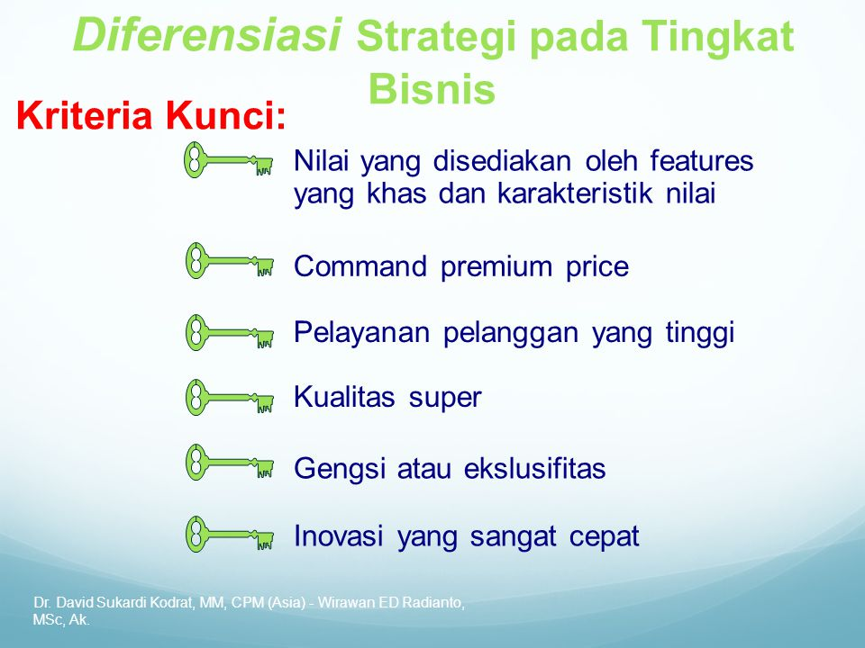 Diferensiasi Strategi pada Tingkat Bisnis