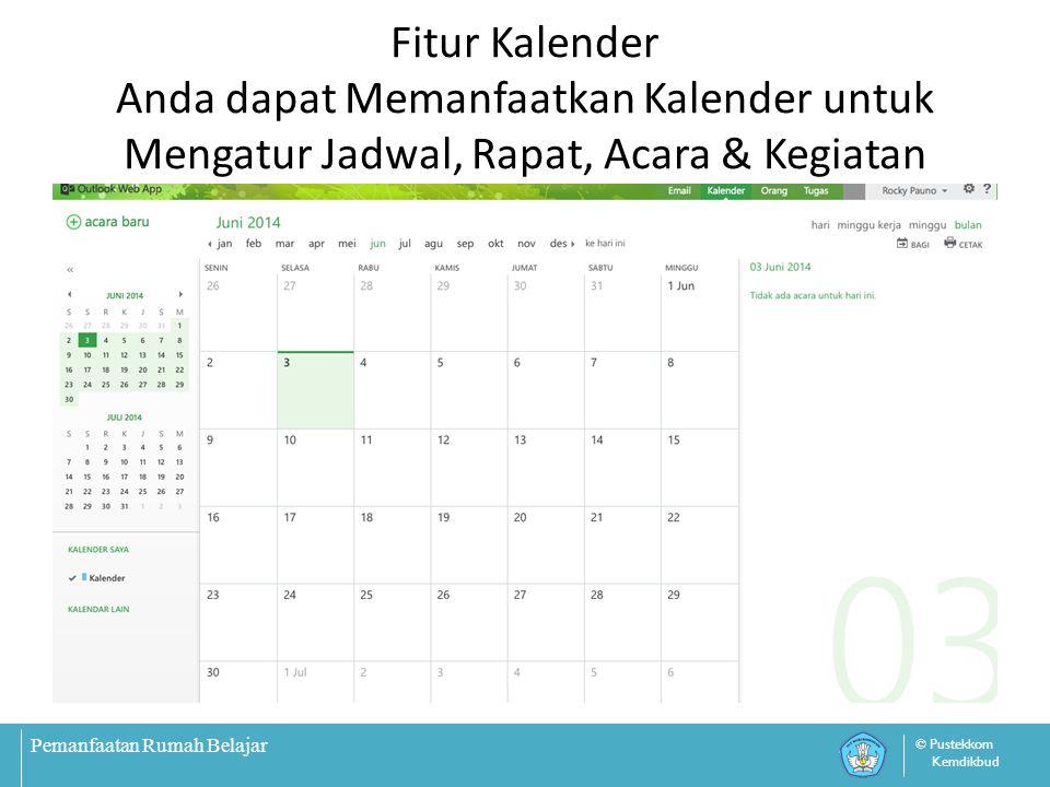 Fitur Kalender Anda dapat Memanfaatkan Kalender untuk Mengatur Jadwal, Rapat, Acara & Kegiatan