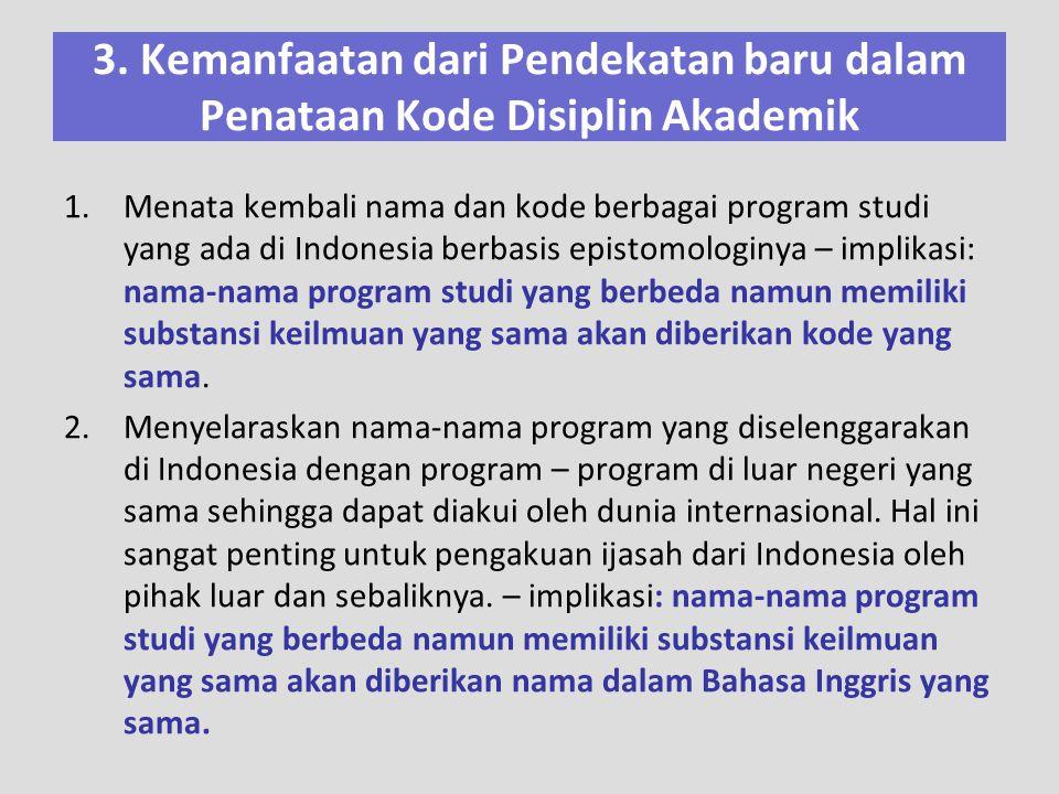 3. Kemanfaatan dari Pendekatan baru dalam Penataan Kode Disiplin Akademik