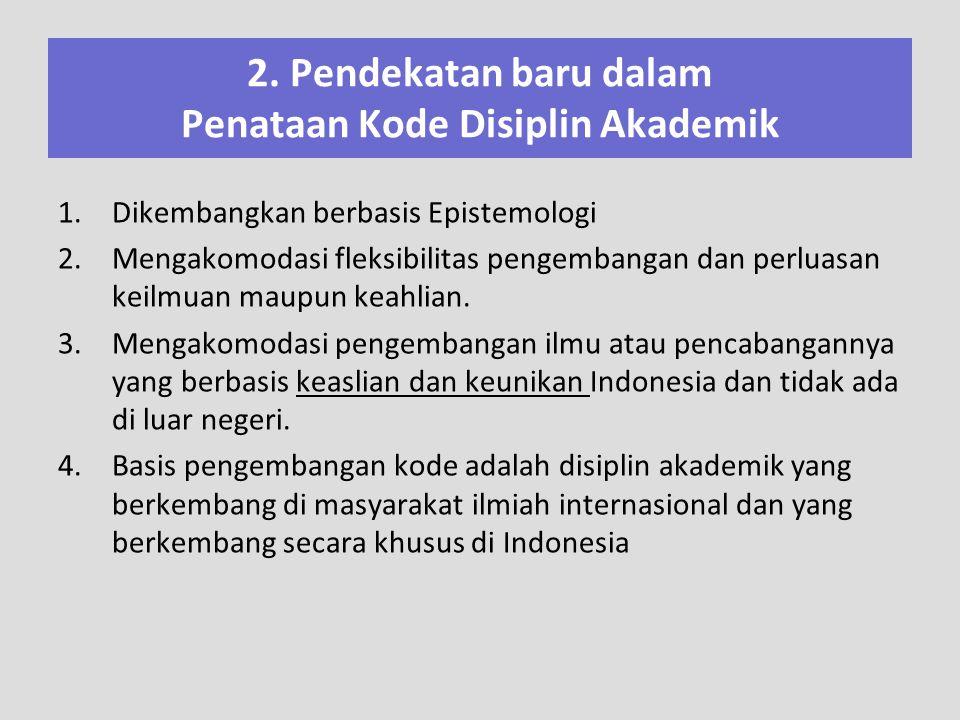 2. Pendekatan baru dalam Penataan Kode Disiplin Akademik
