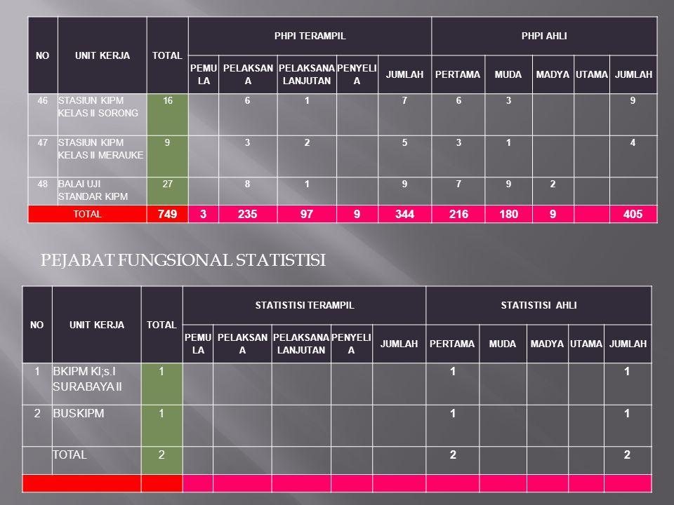PEJABAT FUNGSIONAL STATISTISI