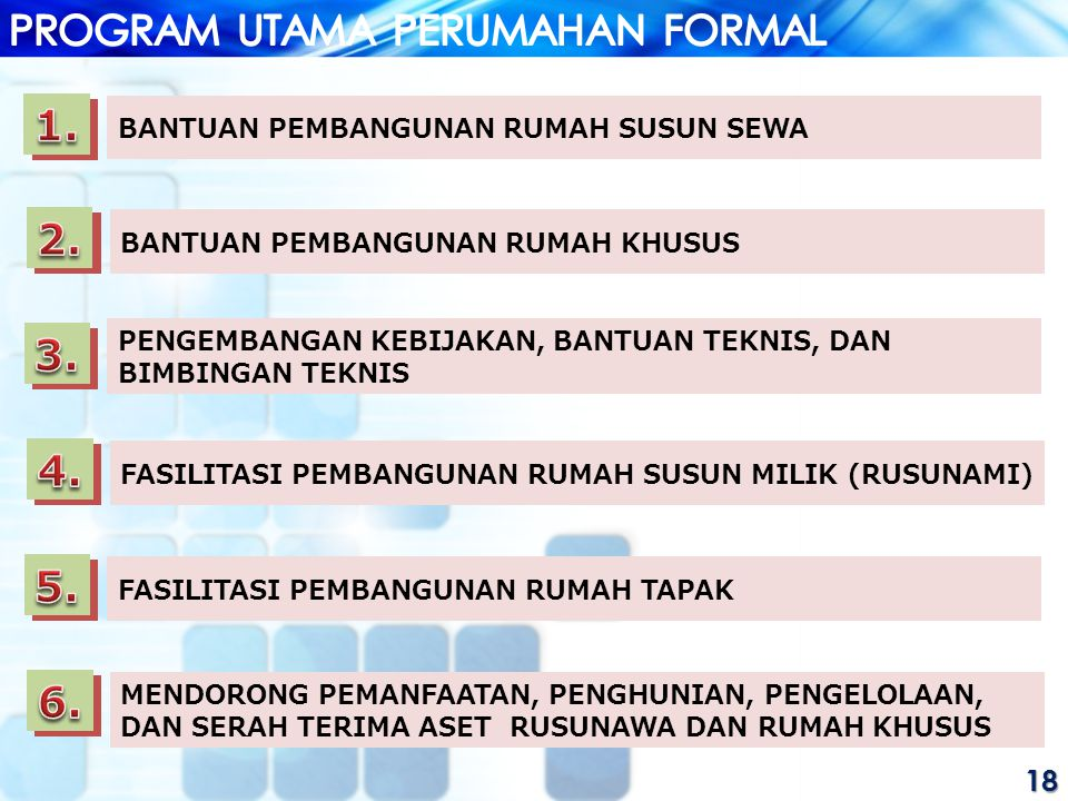 PROGRAM UTAMA PERUMAHAN FORMAL