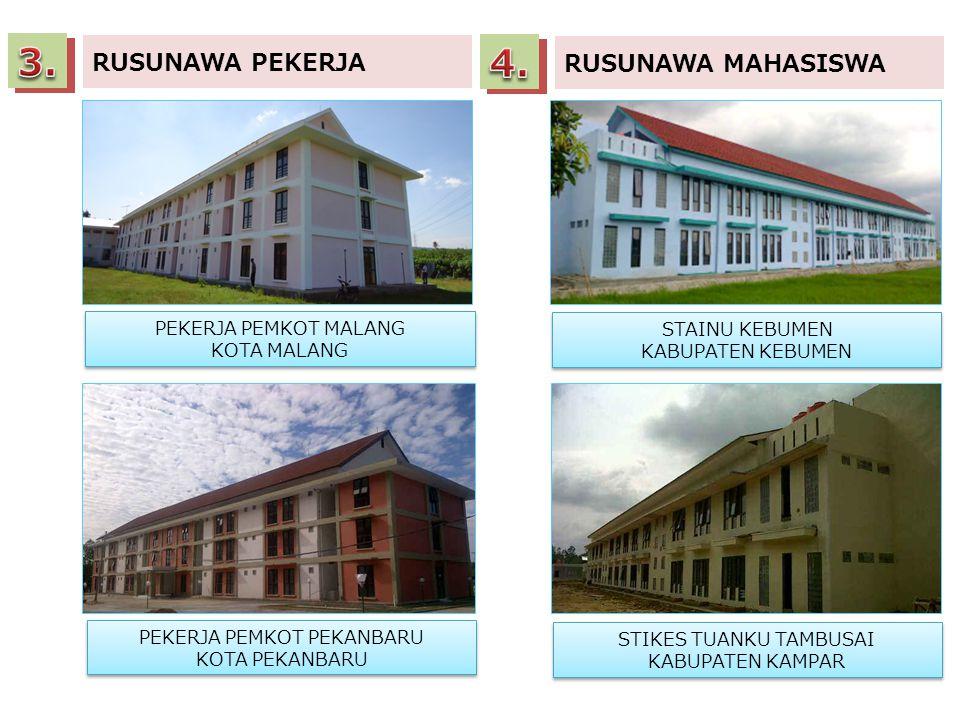 3. 4. RUSUNAWA PEKERJA RUSUNAWA MAHASISWA PEKERJA PEMKOT MALANG