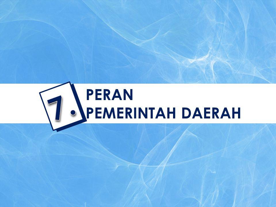 PERAN PEMERINTAH DAERAH 7.