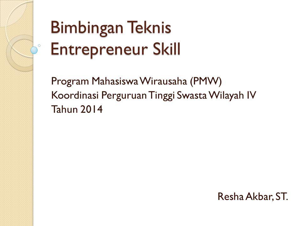 Bimbingan Teknis Entrepreneur Skill