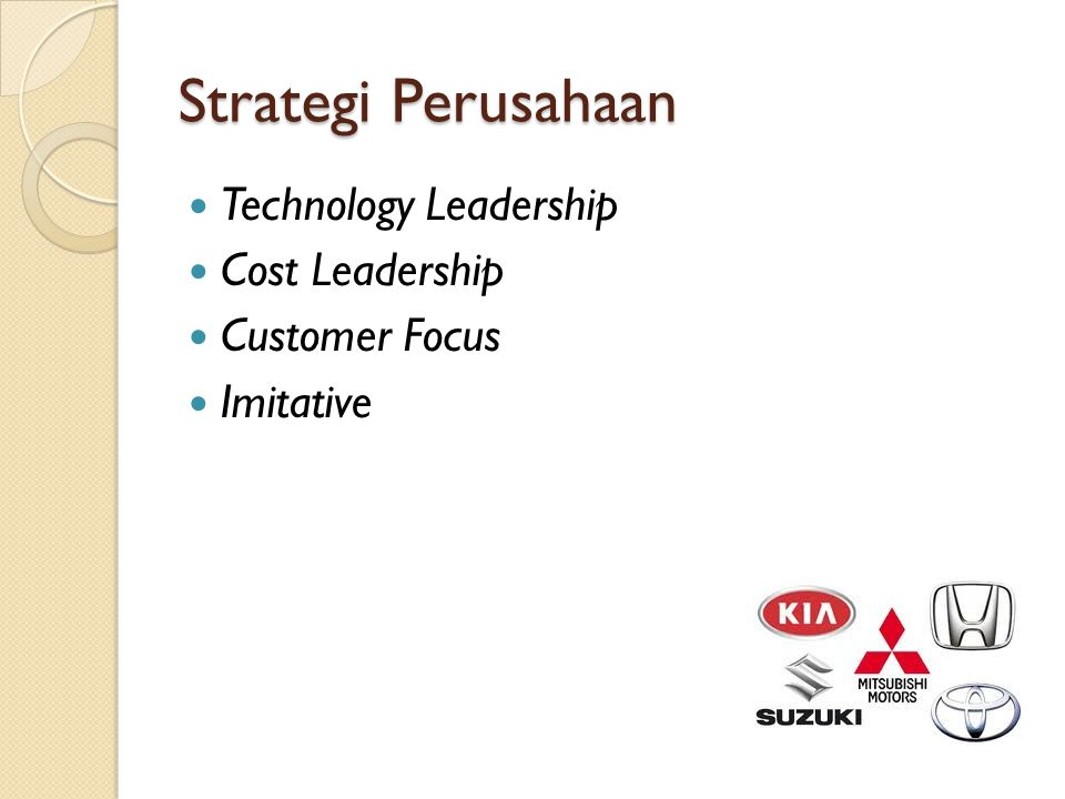 Strategi Perusahaan Technology Leadership Cost Leadership
