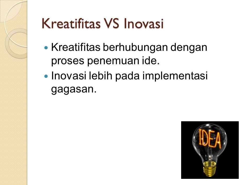 Kreatifitas VS Inovasi