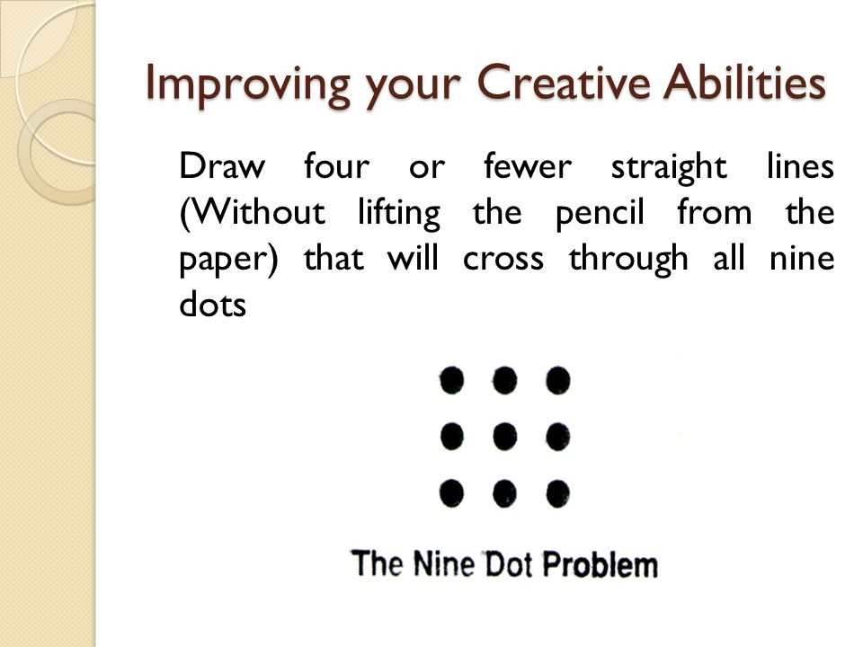 Improving your Creative Abilities