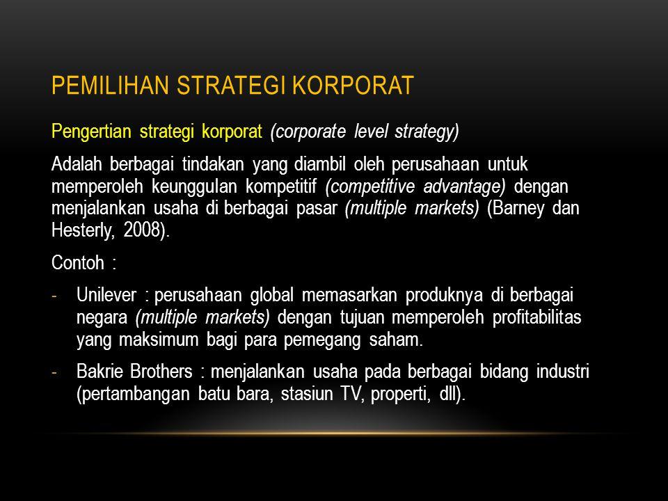 Pemilihan strategi korporat