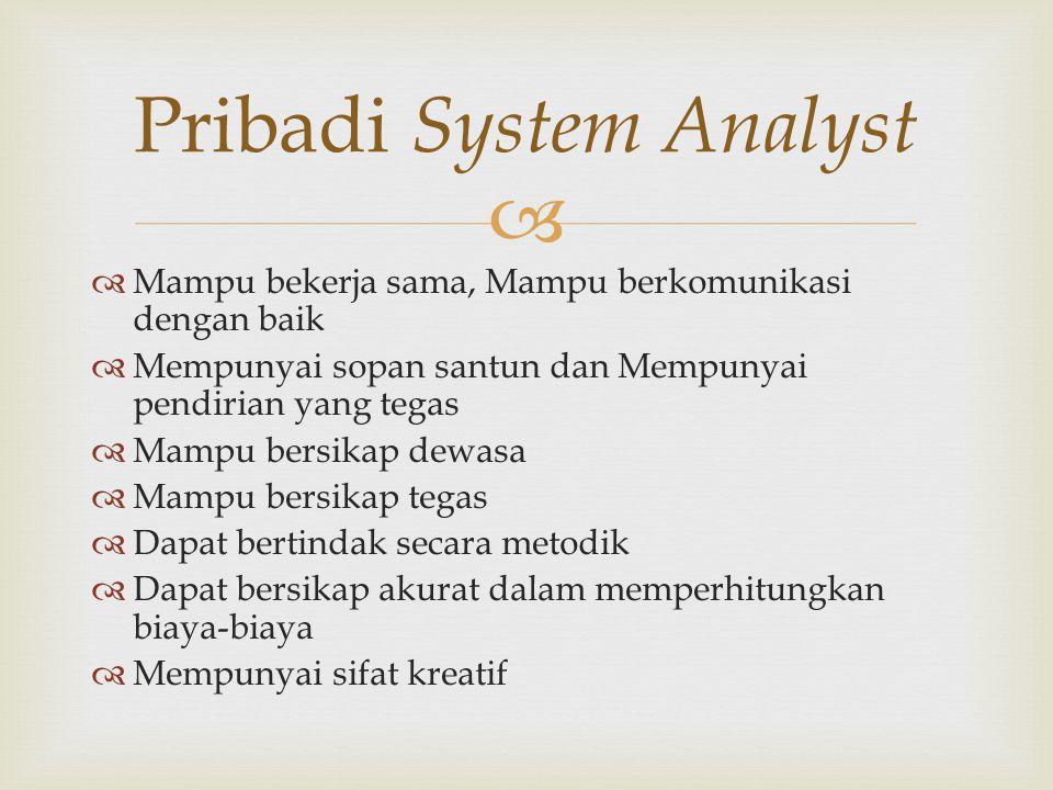 Pribadi System Analyst