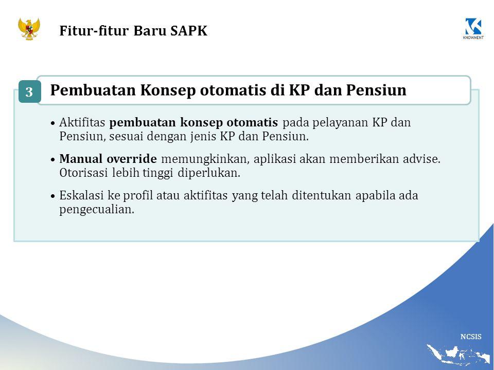 Pembuatan Konsep otomatis di KP dan Pensiun