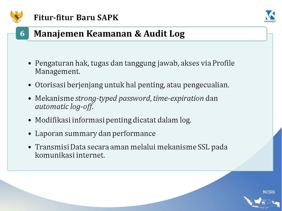 Manajemen Keamanan & Audit Log