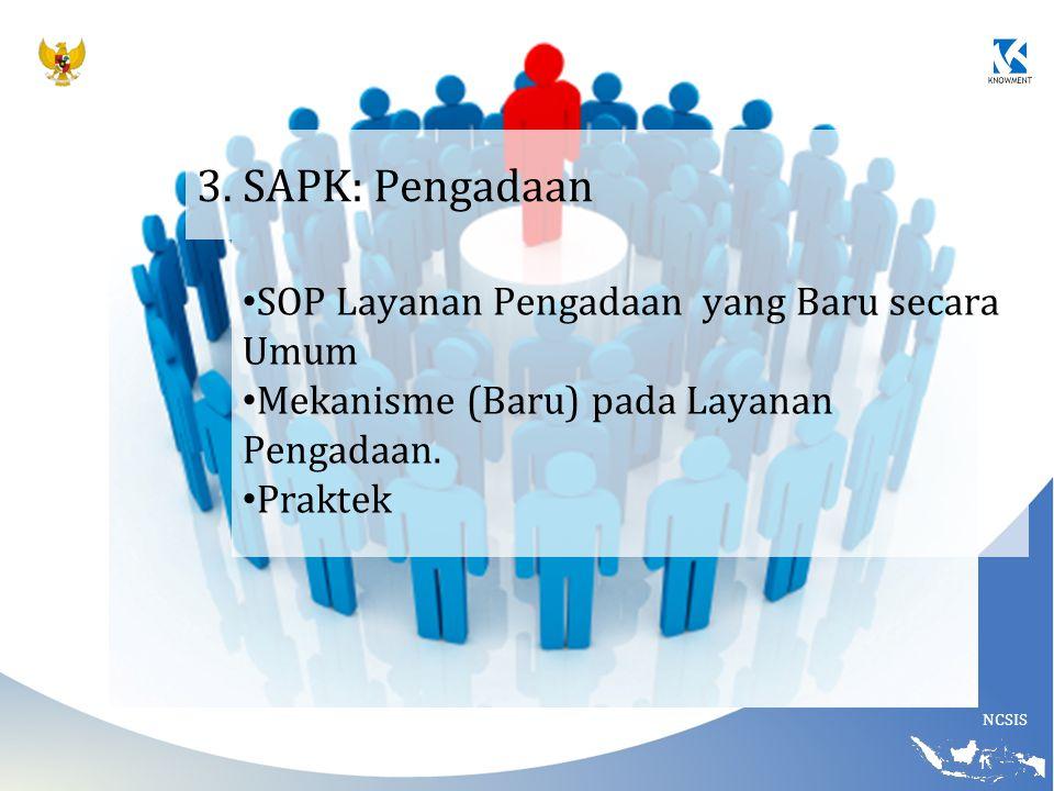 3. SAPK: Pengadaan SOP Layanan Pengadaan yang Baru secara Umum