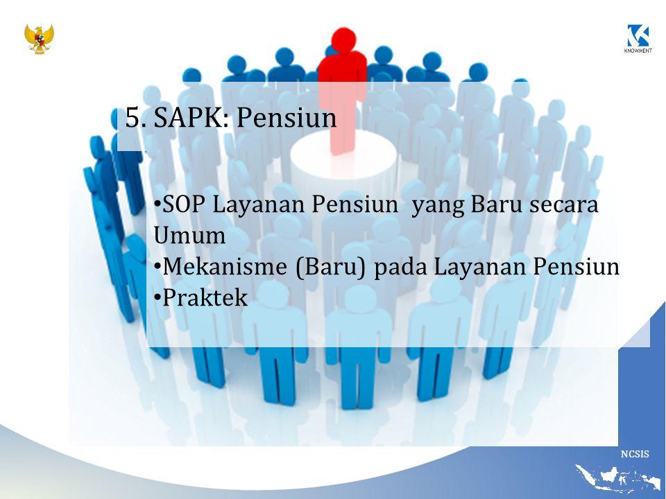 5. SAPK: Pensiun SOP Layanan Pensiun yang Baru secara Umum