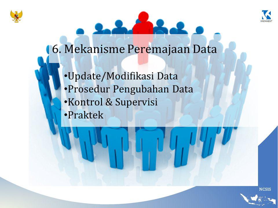 6. Mekanisme Peremajaan Data