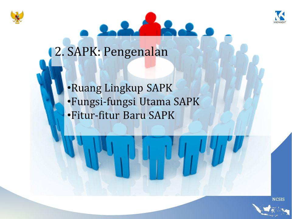 2. SAPK: Pengenalan Ruang Lingkup SAPK Fungsi-fungsi Utama SAPK
