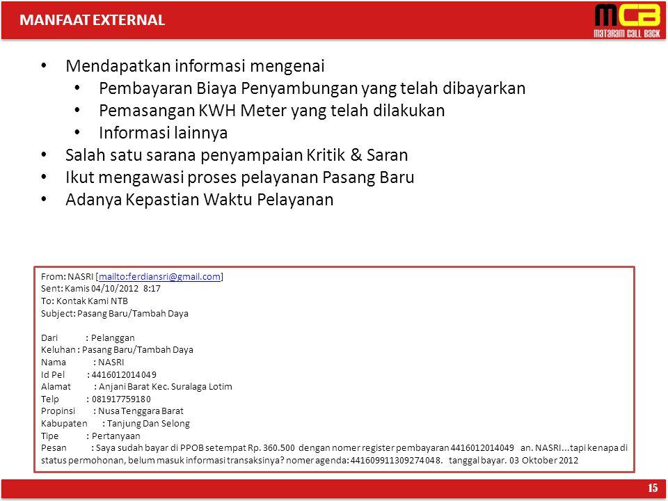 Mendapatkan informasi mengenai