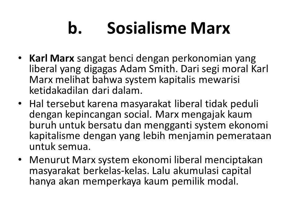 b. Sosialisme Marx