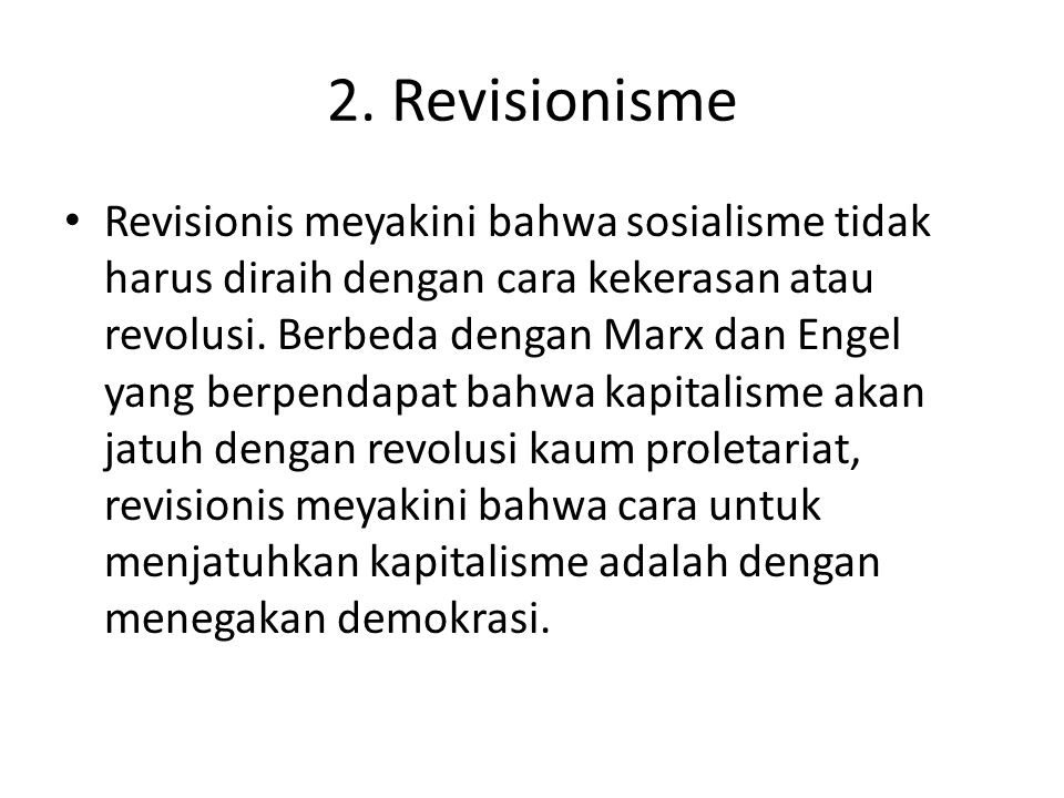 2. Revisionisme