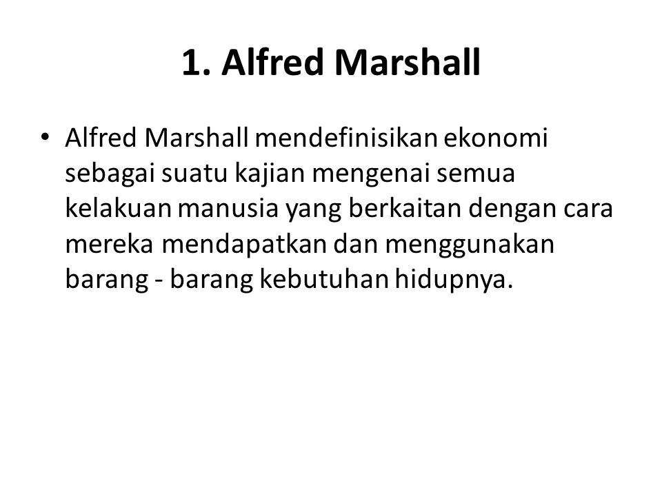 1. Alfred Marshall
