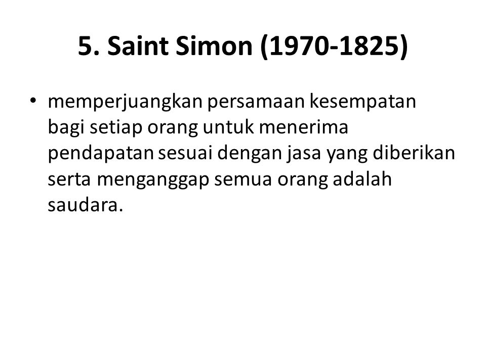 5. Saint Simon (1970-1825)
