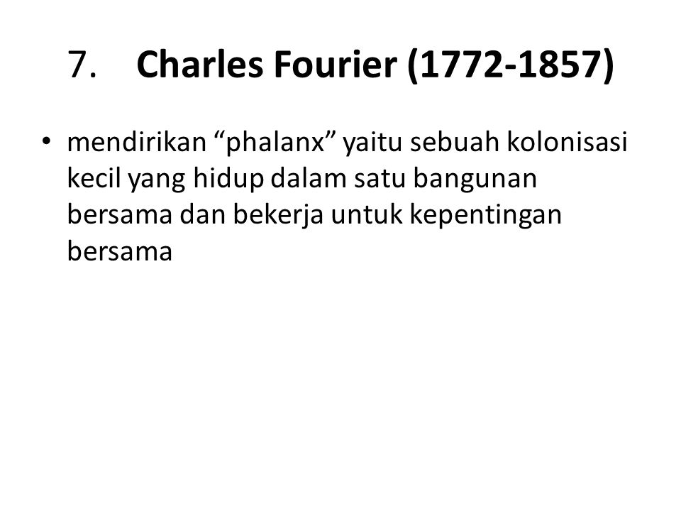 7. Charles Fourier (1772-1857)