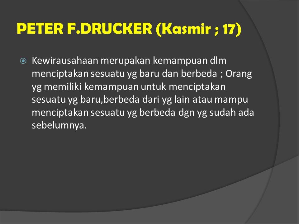 PETER F.DRUCKER (Kasmir ; 17)