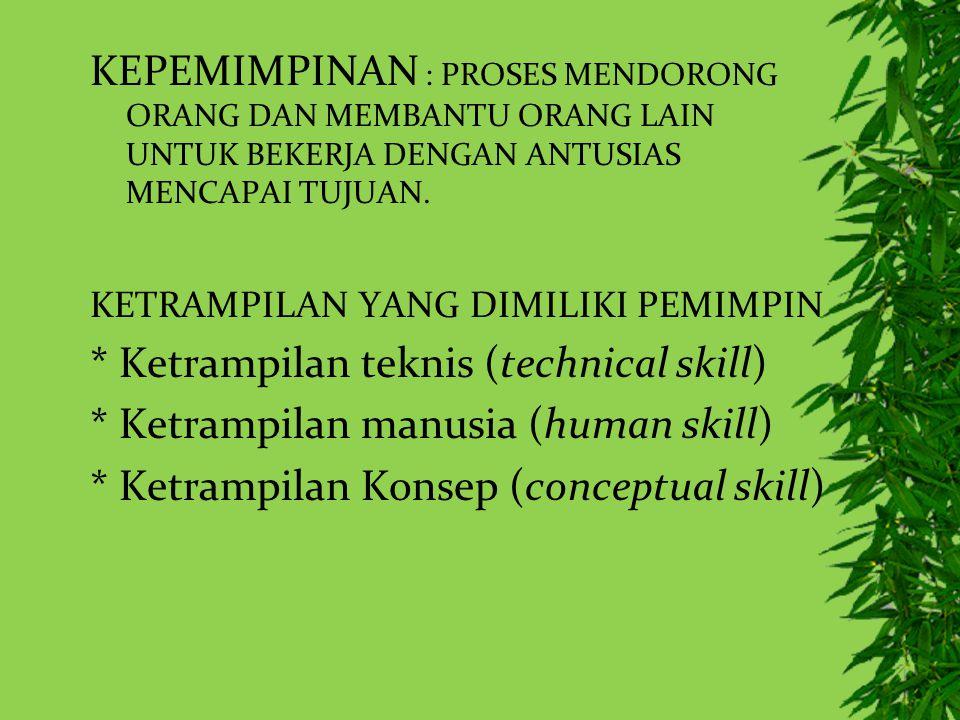 * Ketrampilan teknis (technical skill)