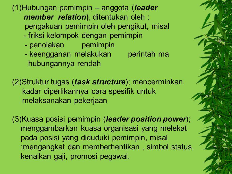 (1)Hubungan pemimpin – anggota (leader