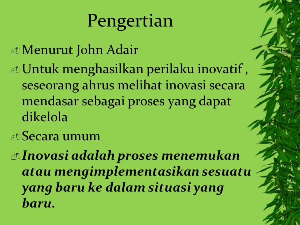 Pengertian Menurut John Adair