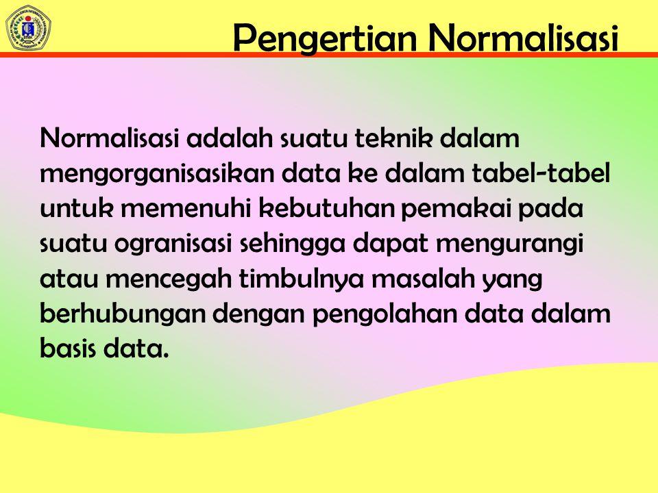 Pengertian Normalisasi