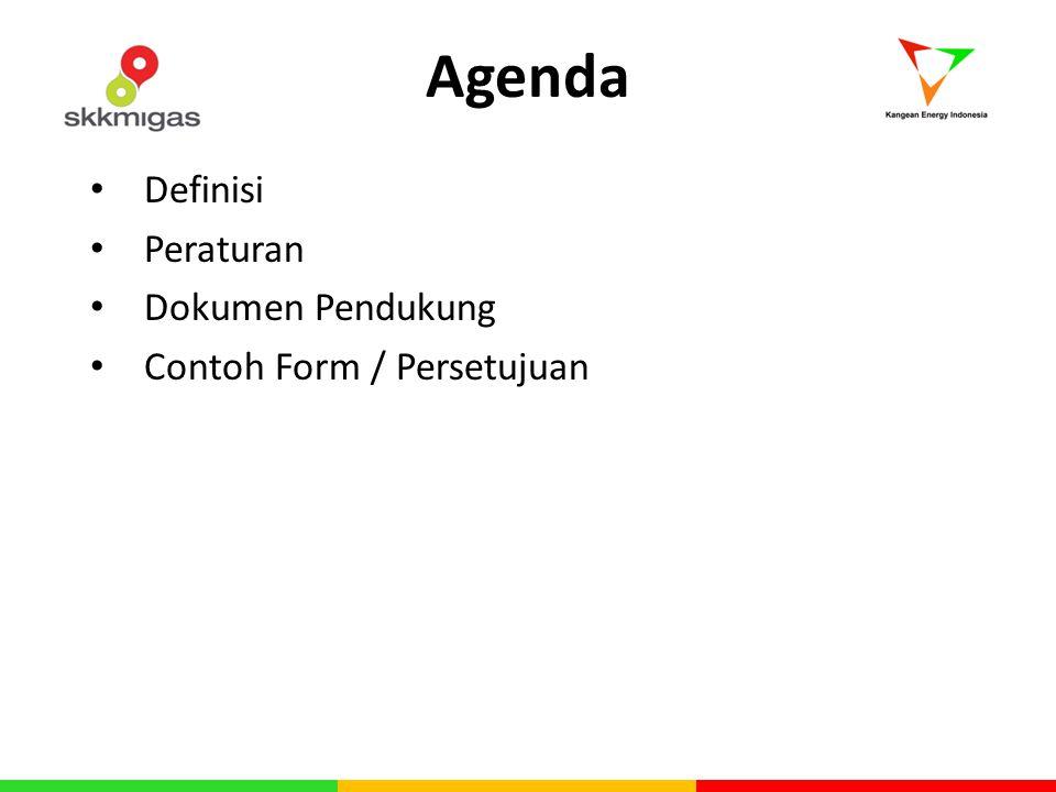 Agenda Definisi Peraturan Dokumen Pendukung Contoh Form / Persetujuan