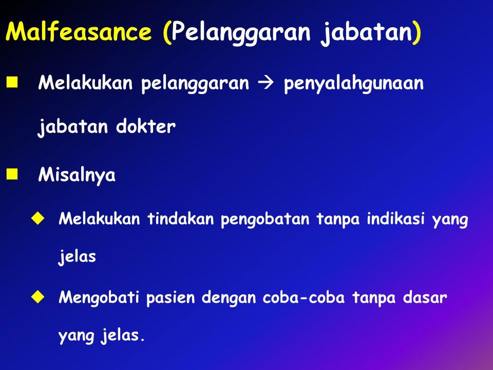 Malfeasance (Pelanggaran jabatan)