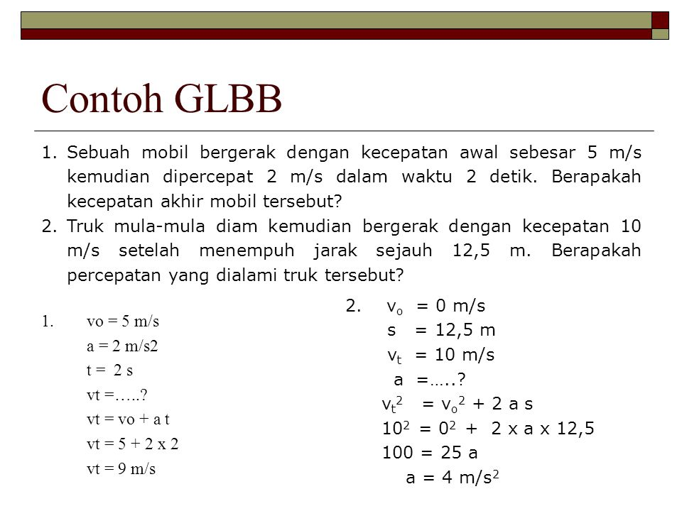 Contoh GLBB