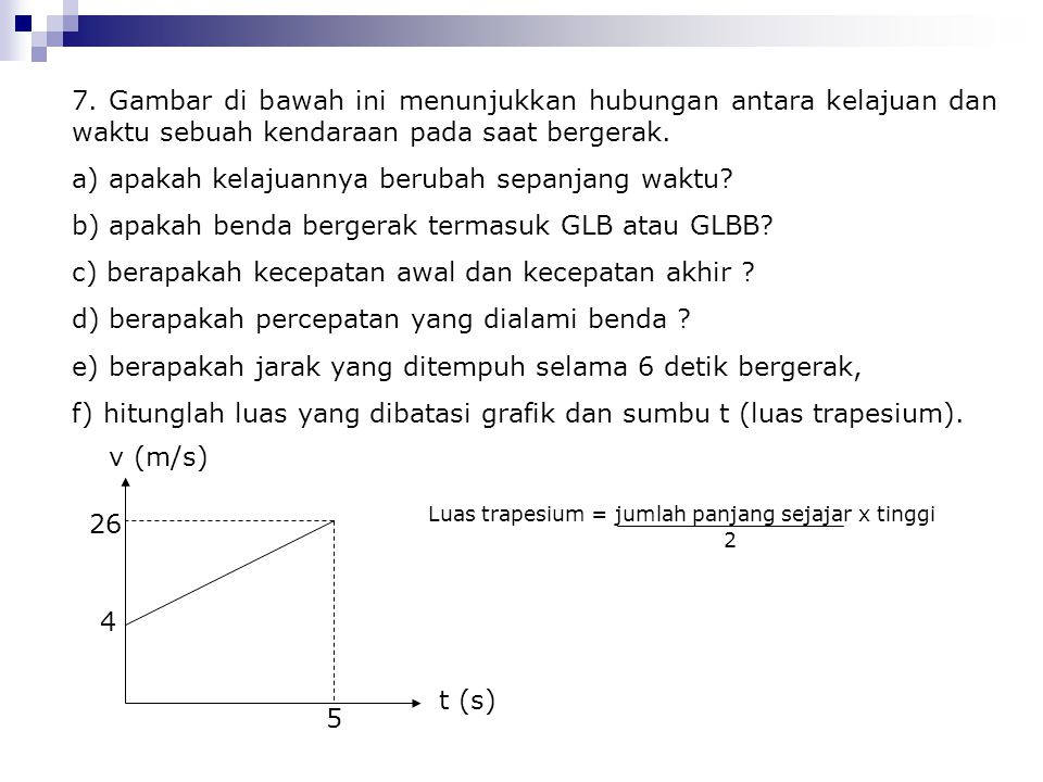 a) apakah kelajuannya berubah sepanjang waktu