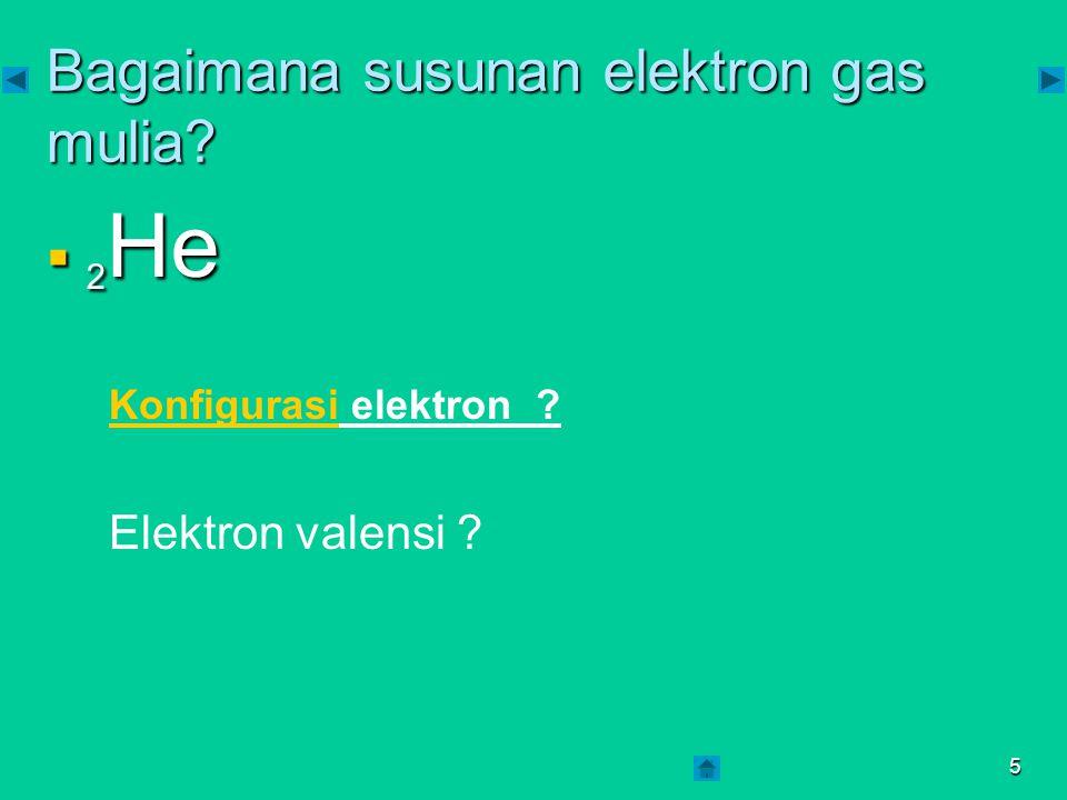 Bagaimana susunan elektron gas mulia