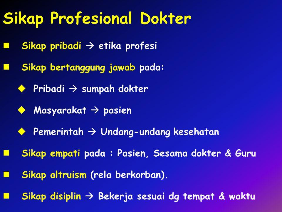 Sikap Profesional Dokter