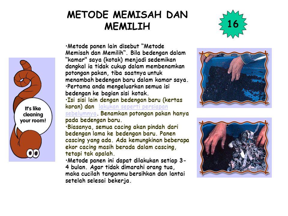 METODE MEMISAH DAN MEMILIH