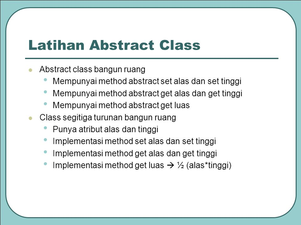 Latihan Abstract Class
