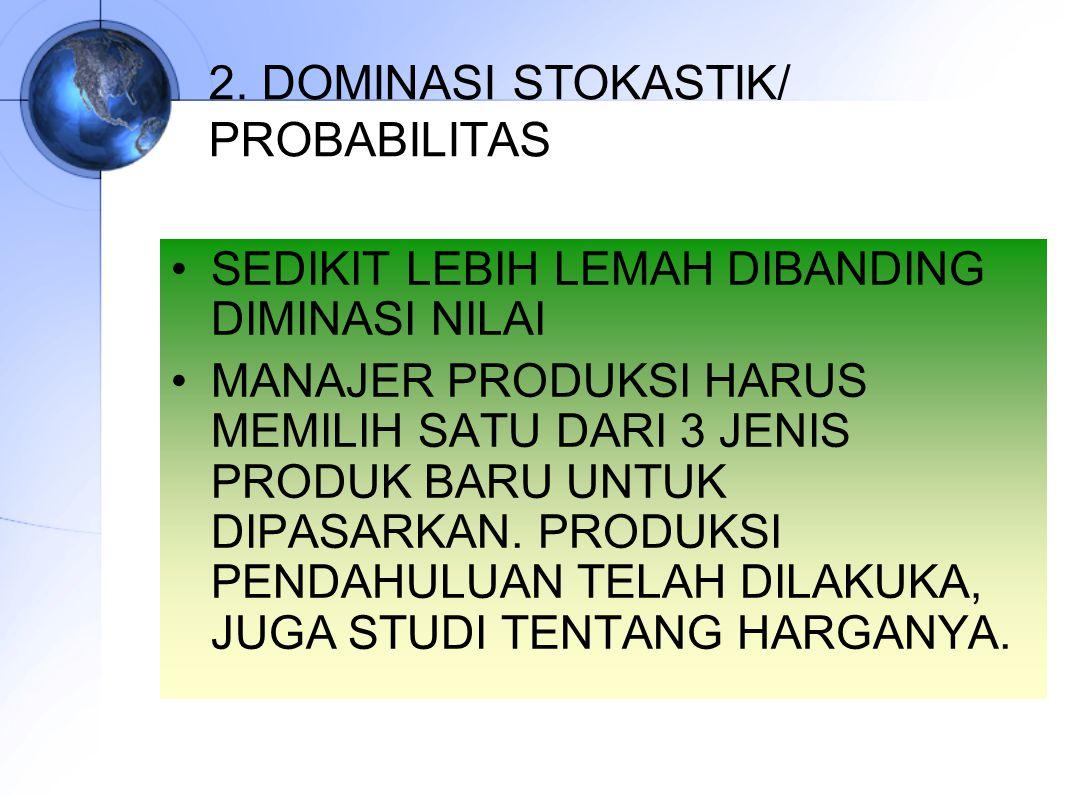 2. DOMINASI STOKASTIK/ PROBABILITAS