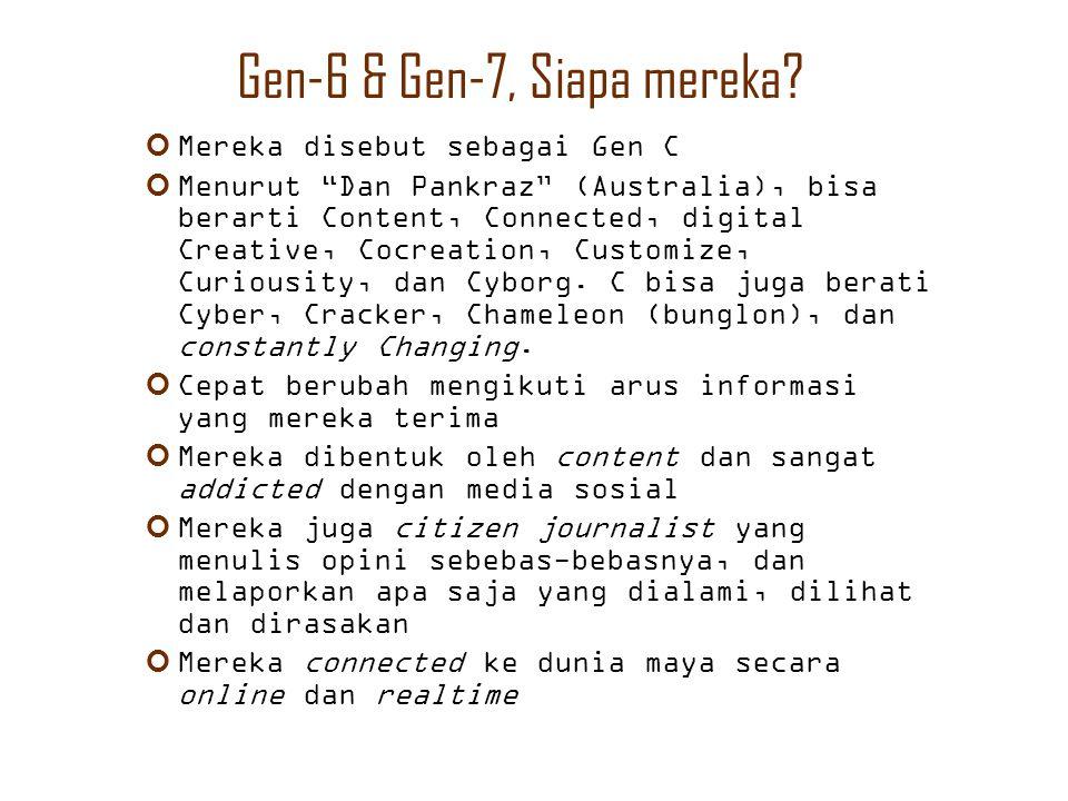 Gen-6 & Gen-7, Siapa mereka