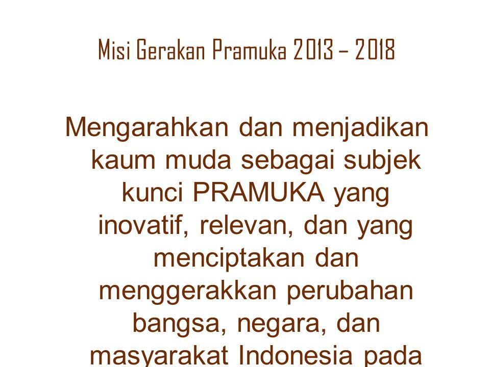 Misi Gerakan Pramuka 2013 – 2018