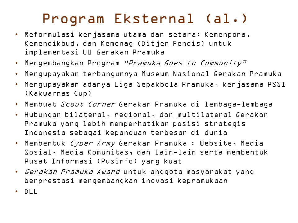 Program Eksternal (al.)