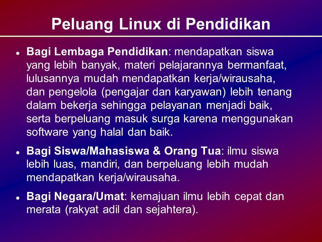 Peluang Linux di Pendidikan