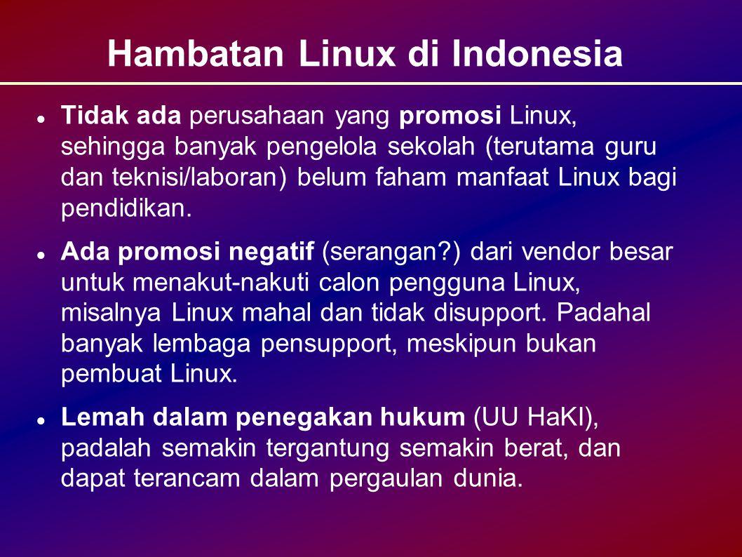 Hambatan Linux di Indonesia